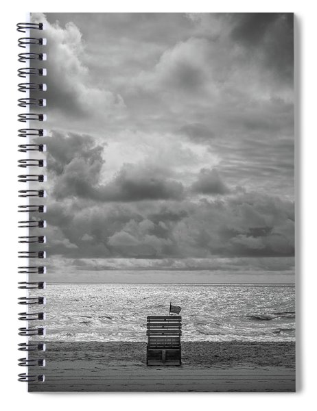 Cloudy Morning Rough Waves Spiral Notebook