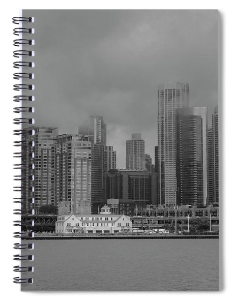 Cloudy Skyline Spiral Notebook