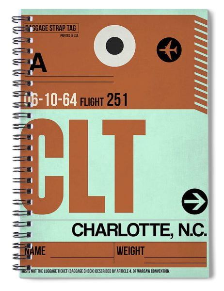 Clt Charlotte Luggage Tag I Spiral Notebook