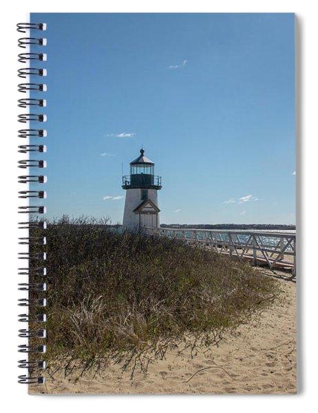 Coastal Brant Light House Spiral Notebook