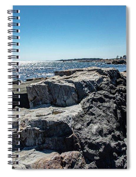 Coastline Of Maine Spiral Notebook