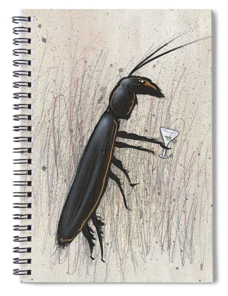 Cockroach With Martini Spiral Notebook