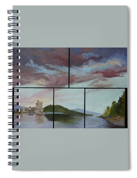 Coeur D Alene Lake    North  Idaho Spiral Notebook