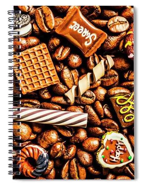 Coffee Candy Spiral Notebook