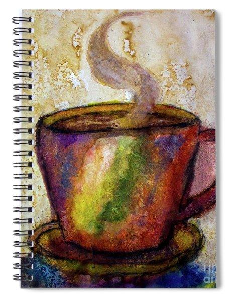 Coffee Spill Spiral Notebook