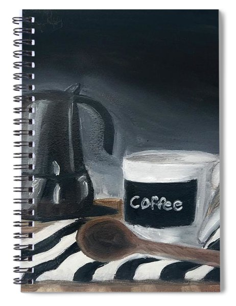 Spiral Notebook featuring the painting Coffee Time by Fe Jones