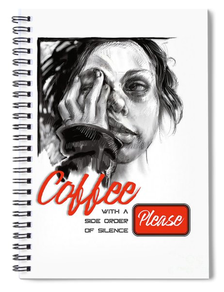 Coffee With A Side Spiral Notebook