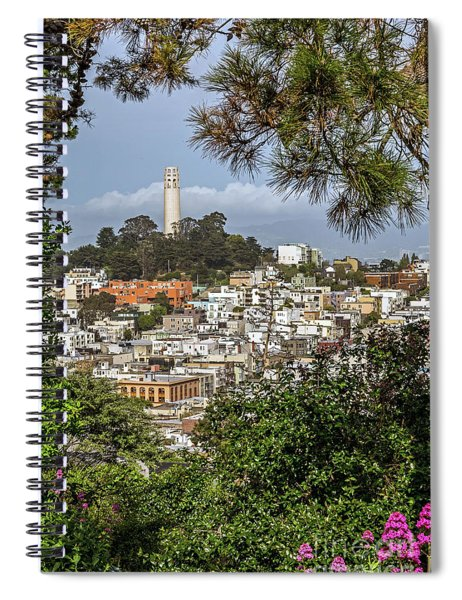 Coit Tower Through Trees Spiral Notebook