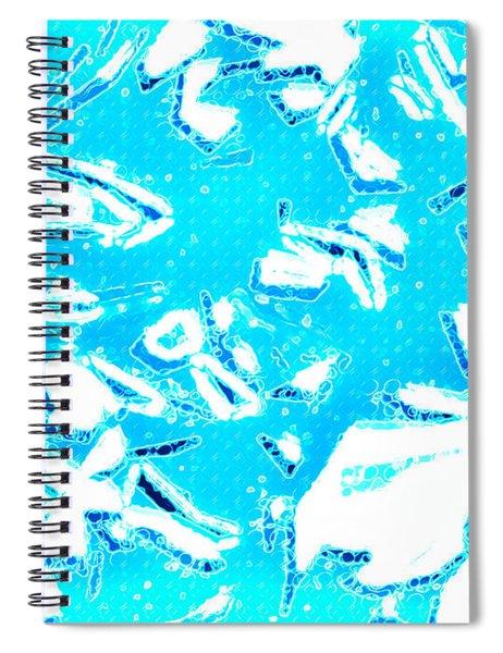 Cold Blue Spiral Notebook