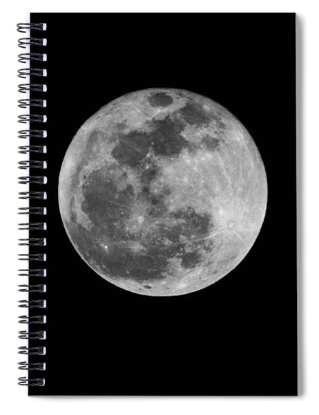 Full Cold Moon Spiral Notebook