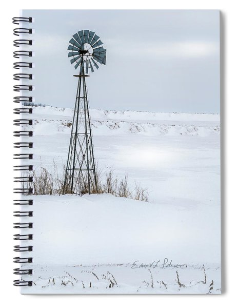 Cold Windmill Spiral Notebook by Edward Peterson