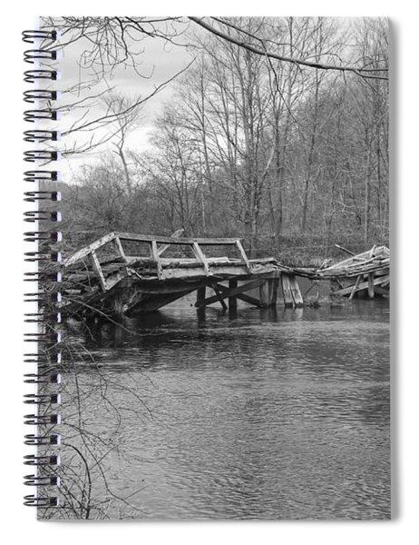 Collapsed Bridge At Waterloo Village Spiral Notebook