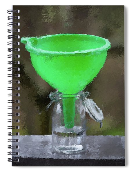 Collecting Rain Water Spiral Notebook