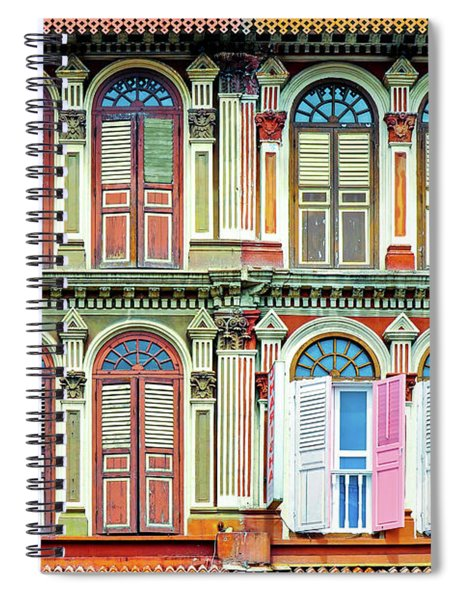 Colonial Architecture In Singapore Spiral Notebook