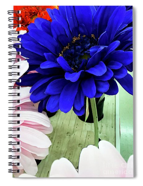Color-faux Blooms Spiral Notebook by Rick Locke