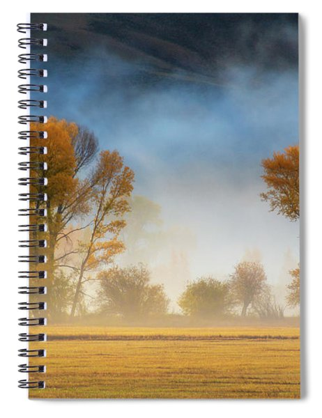 Spiral Notebook featuring the photograph Colorado Autumn Fog by John De Bord
