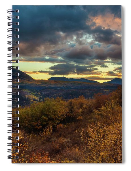 Spiral Notebook featuring the photograph Colorado Cloudscape by John De Bord