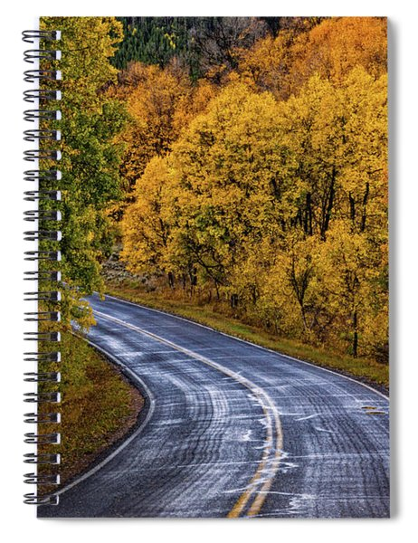 Spiral Notebook featuring the photograph Colorado Fall Country Road by John De Bord