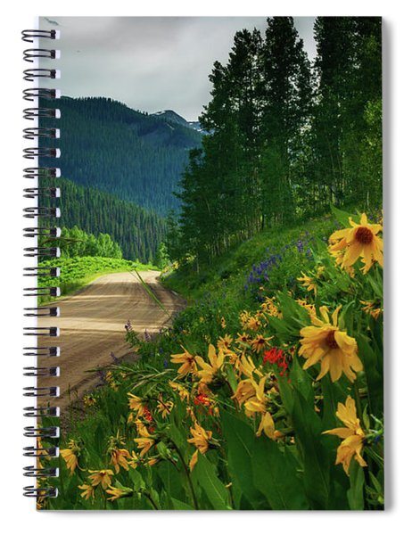 Spiral Notebook featuring the photograph Colorado Wildflowers by John De Bord