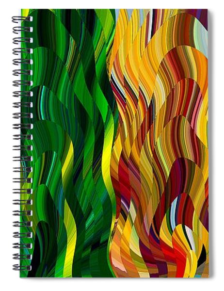 Colored Fire Spiral Notebook