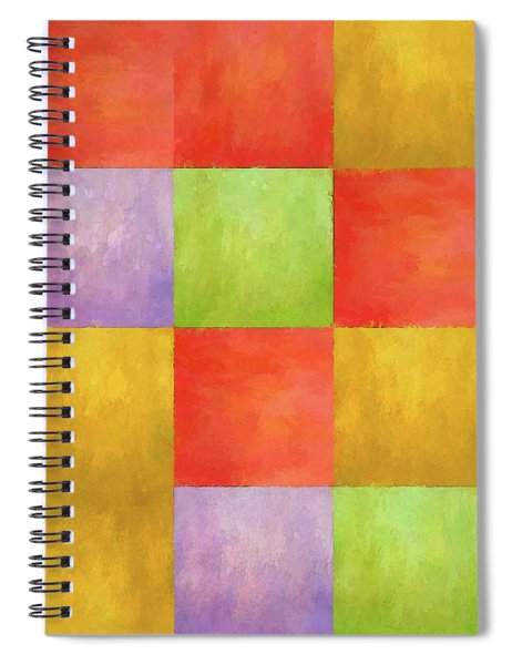 Colored Tiles Spiral Notebook