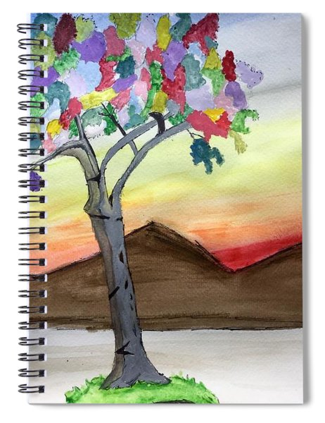 Colored Tree Spiral Notebook