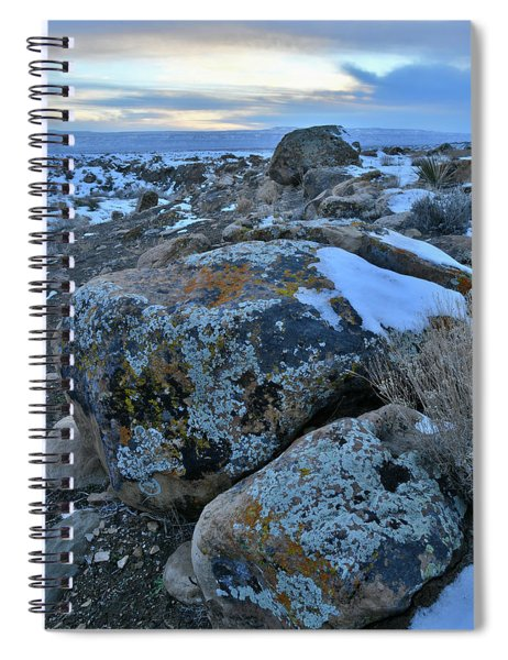 Colorful Boulders At Sunset In The Book Cliffs Spiral Notebook