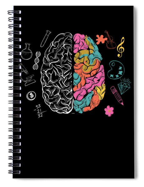 Colorful Brain Spiral Notebook