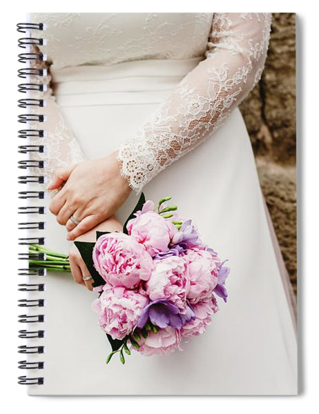 Colorful Bridal Bouquets With Flowers Spiral Notebook