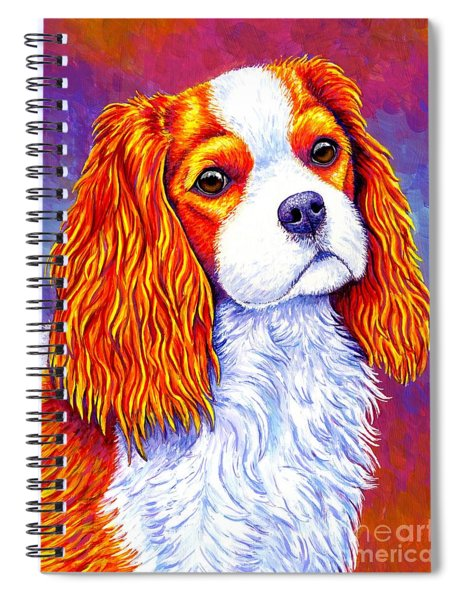 Colorful Cavalier King Charles Spaniel Dog Spiral Notebook