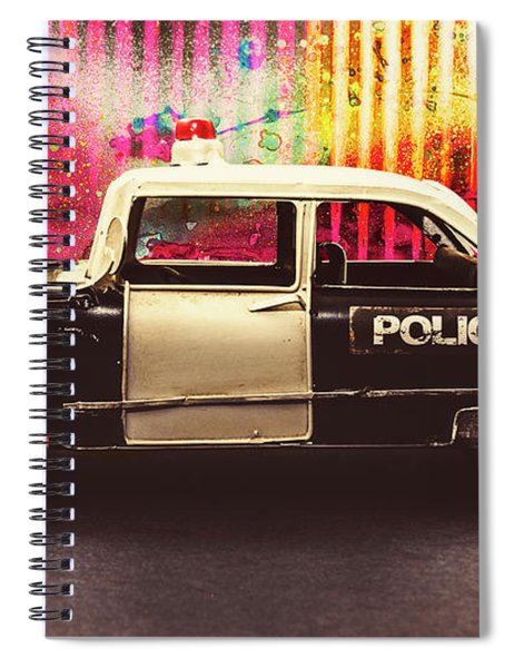 Colorful Crime  Spiral Notebook