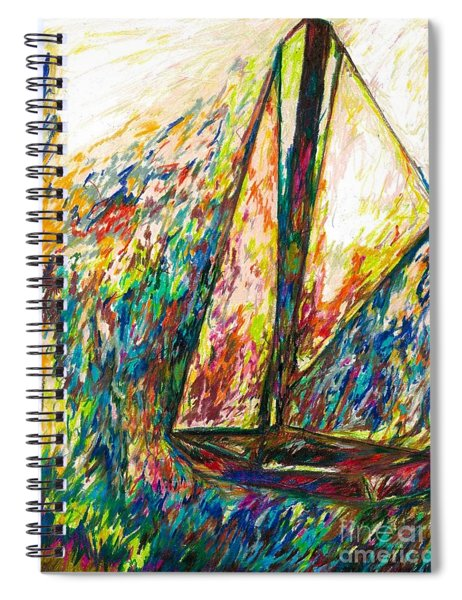 Colorful Day On The Water Spiral Notebook