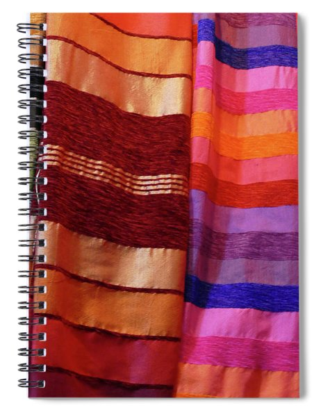 Colorful Fabrics In The Medina Market  Spiral Notebook
