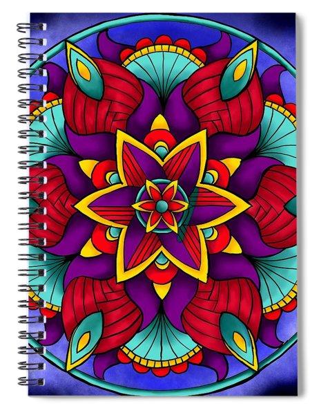 Colorful Flower Mandala Spiral Notebook