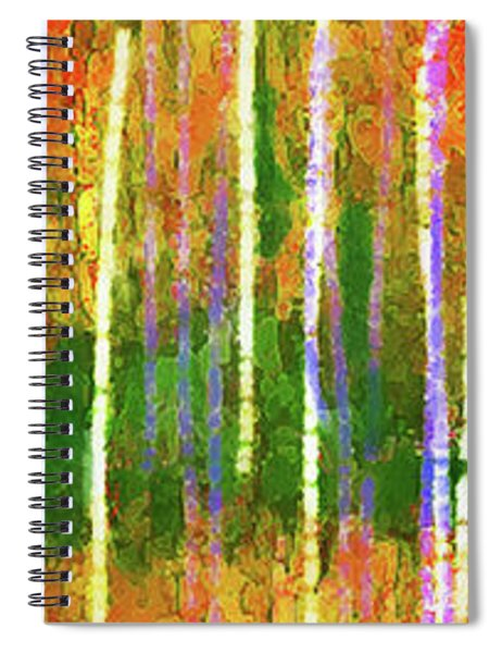 Colorful Forest Abstract Spiral Notebook