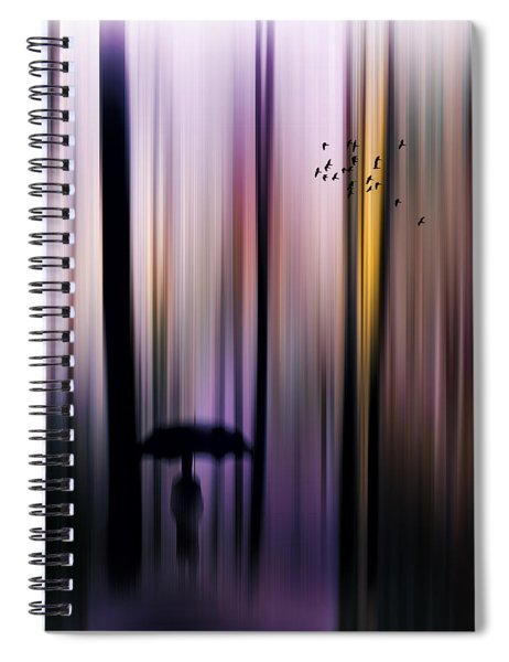 Colorful Forest Walk Spiral Notebook