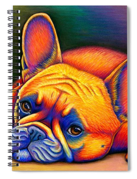Daydreamer - Colorful French Bulldog Spiral Notebook
