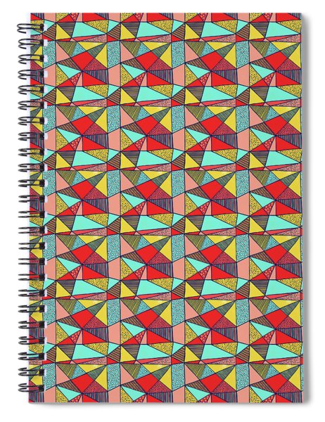 Colorful Geometric Abstract Pattern Spiral Notebook