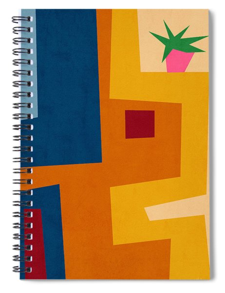 Colorful Geometric House 3- Art By Linda Woods Spiral Notebook