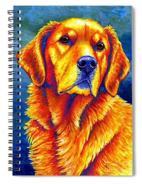 Colorful Golden Retriever Dog Spiral Notebook