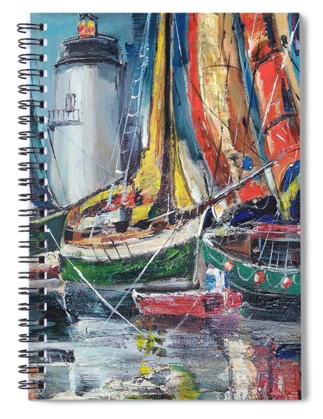 Colorful Harbor Spiral Notebook