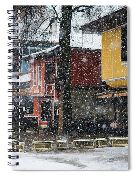 Colorful Koprivshtica Houses In Winter Spiral Notebook