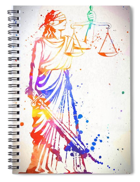 Colorful Lady Justice Spiral Notebook