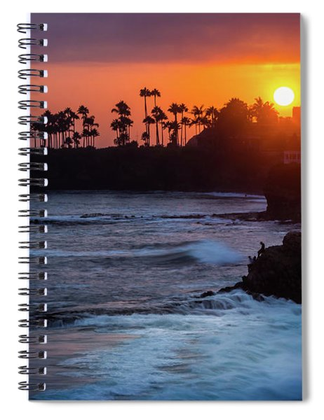 Colorful Laguna Beach Sunset Spiral Notebook