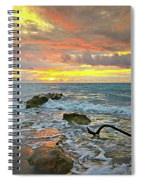 Colorful Morning Sky And Sea Spiral Notebook