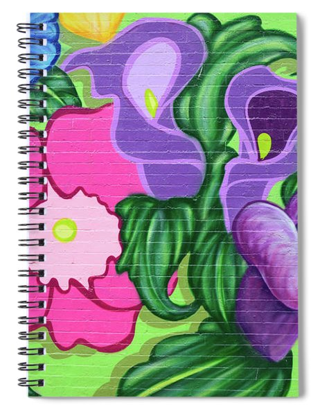 Colorful Mural Spiral Notebook