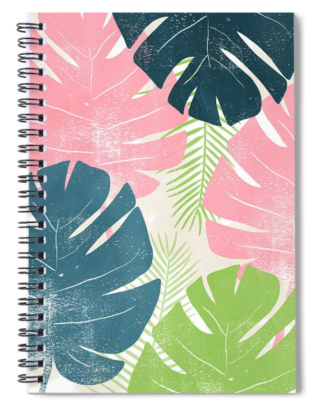 Colorful Palm Leaves 1- Art By Linda Woods Spiral Notebook
