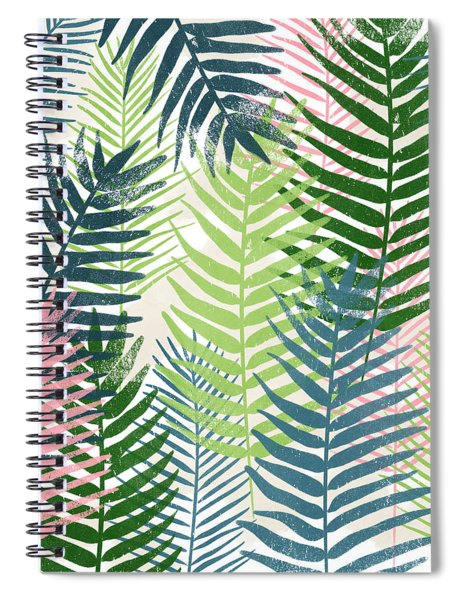 Colorful Palm Leaves 2- Art By Linda Woods Spiral Notebook