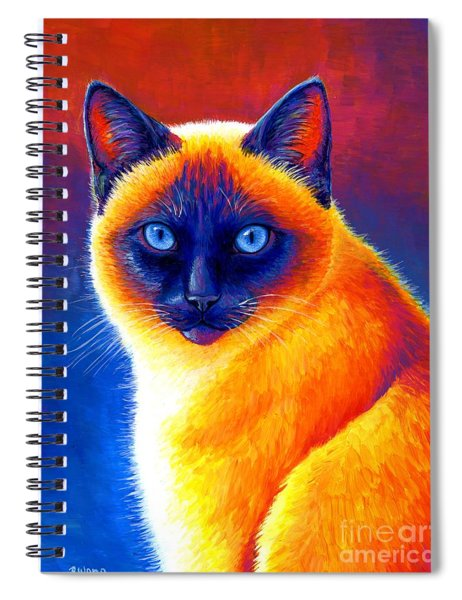 Jewel Of The Orient - Colorful Siamese Cat Spiral Notebook