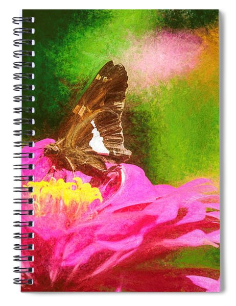 Colorful Silver Spotted Skipper Butterfly Spiral Notebook